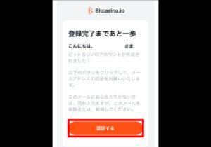 ビットカジノ 登録確認